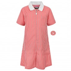 Gingham Dress - Red