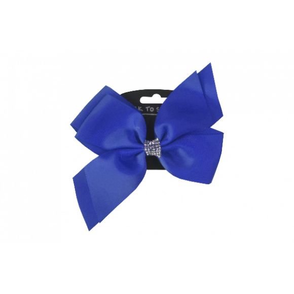 Hair Clip - Diamante Bow Royal