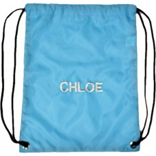 Personalised Sea Blue Embroidered Gymsac