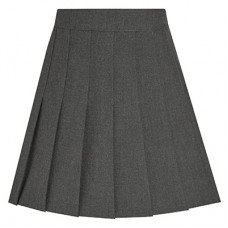 Eco Stitch Down Pleated Skirt - Grey