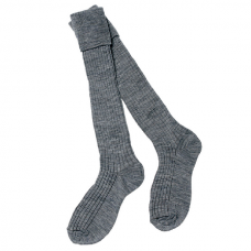 Socks Knee High Turn Over Top 3 Pair Pack - Grey