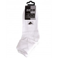 Ankle Socks 3 Pair Pack - White