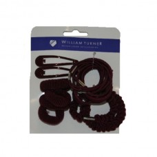 Hair Accessories Set Maroon