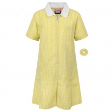 Gingham Dress- Yellow