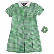 Dress Gingham - Bottle Green