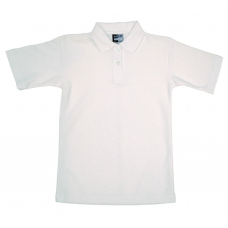 Frilly Collar Polo Shirt - White