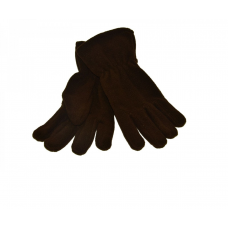 Fleece Gloves - Brown
