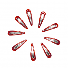 Hair Clips - Red